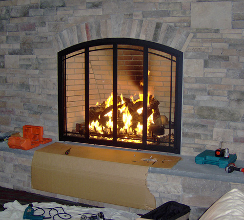 Find a great selection of fireplace doors like glass fireplace doors and mesh screen fireplace doors from Stoll