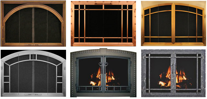 Fireplace Doors | Glass Fireplaces Doors | Fireplace ScreensYankee ...