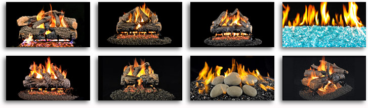 large choice of gas log sets in fairfield westchester