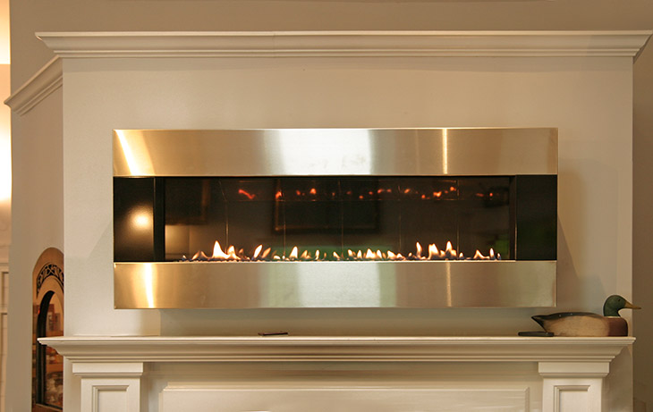 Wonderful Modern Linear Gas Fireplace In Greenwich Ct