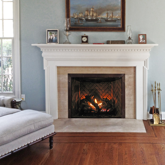 built in zc fireplace near westport fairfield county