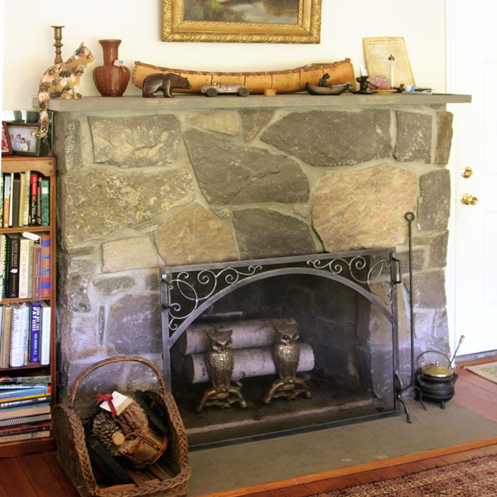 stone masonry fireplace wood burning in new fairfield ct