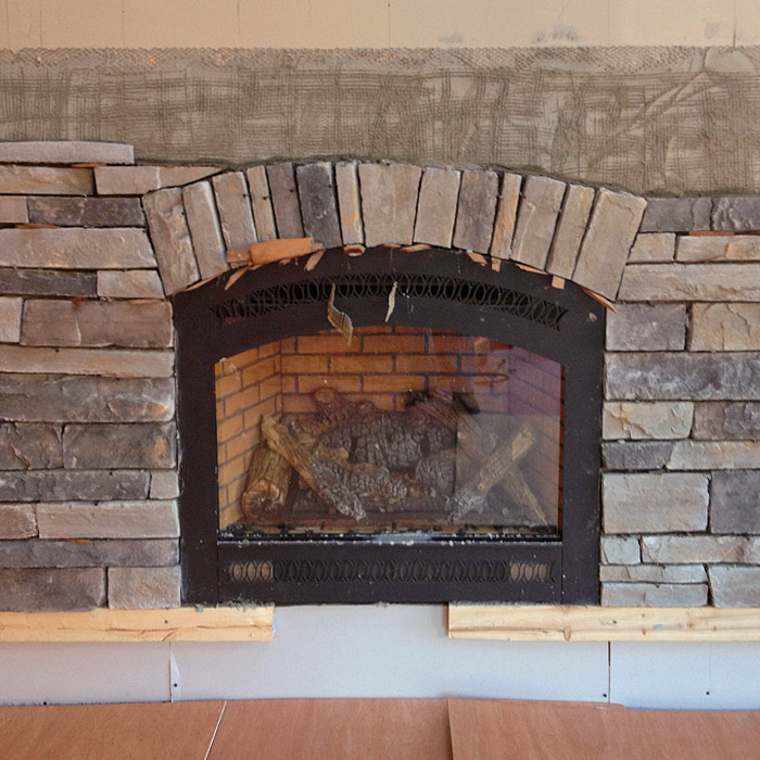 faux stone fireplace surround make custom look in westchester county ny