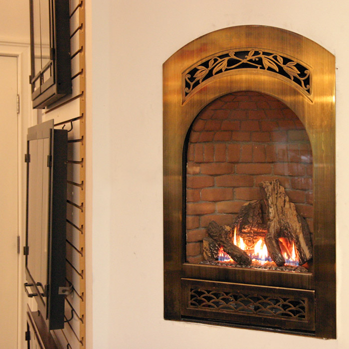 contemporary gas fireplace installed in south salem ny