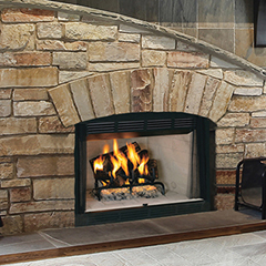 Westport CT new wood burning fireplace
