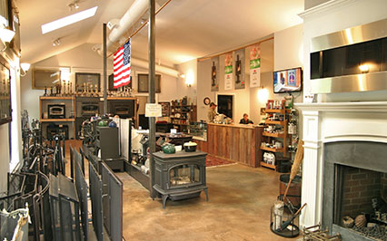 yankee doodle fireplace and stove showroom in Westport CT