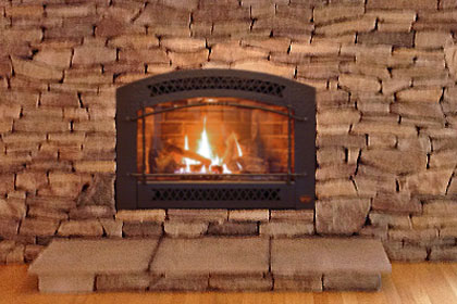 install wood burning fireplace pound ridge ny with custom stone surround trumbull, bethel, brookfield ct
