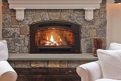 custom fireplace construction remodeling gas insert in wilton, ridgefield, new canaan