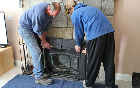 shelton ct fireplace insert installs